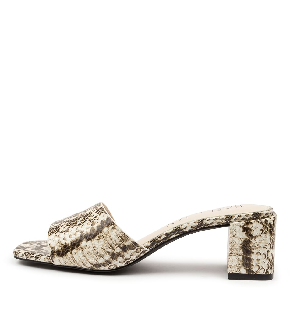 Buy Hael & Jax Tribe Hj White Chocolate Heeled Sandals online with free shipping