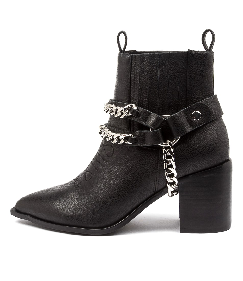 Buy Hael & Jax Fearless Hj Black Ankle Boots online with free shipping