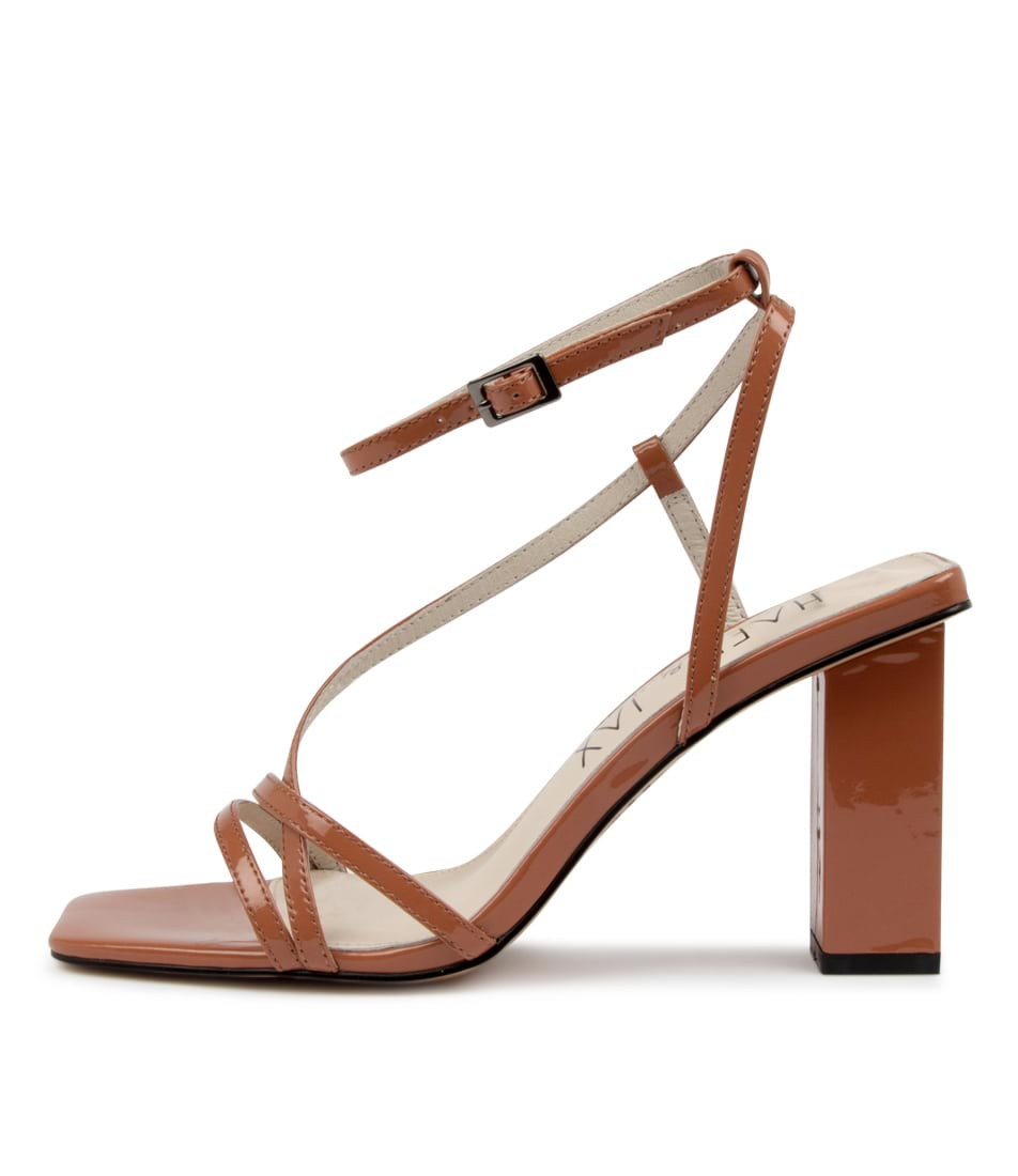 Buy Hael & Jax Flame Hj Cognac Heeled Sandals online with free shipping