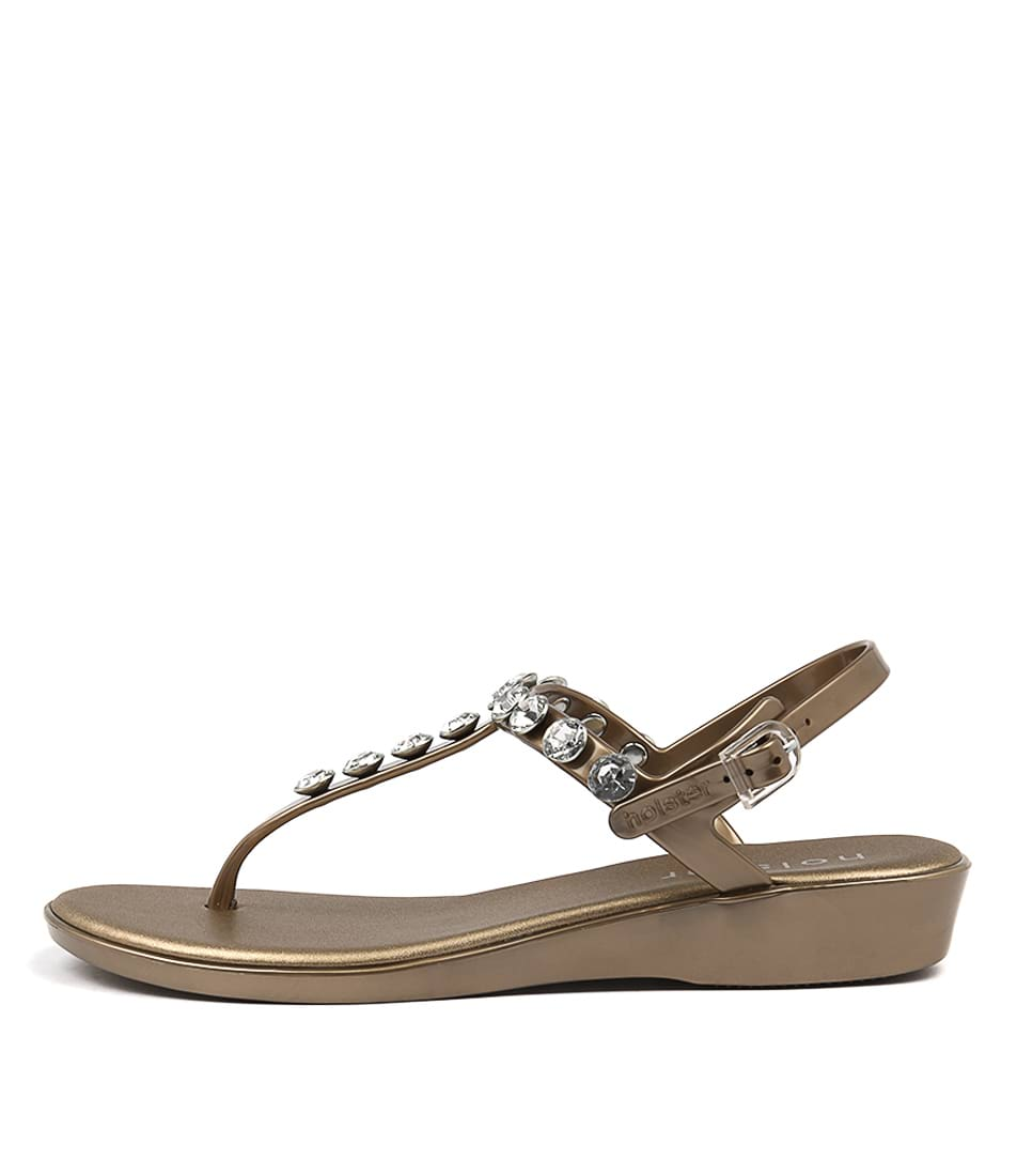Holster Amalfi Wedge Bronze Sandals