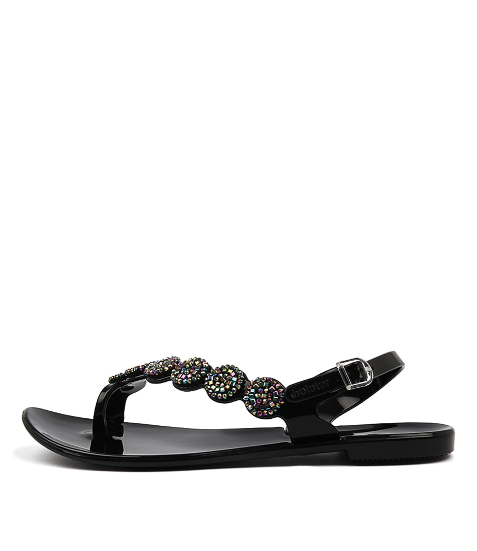 Photo of Holster Aria Black Sandals Flat Sandals womens shoes