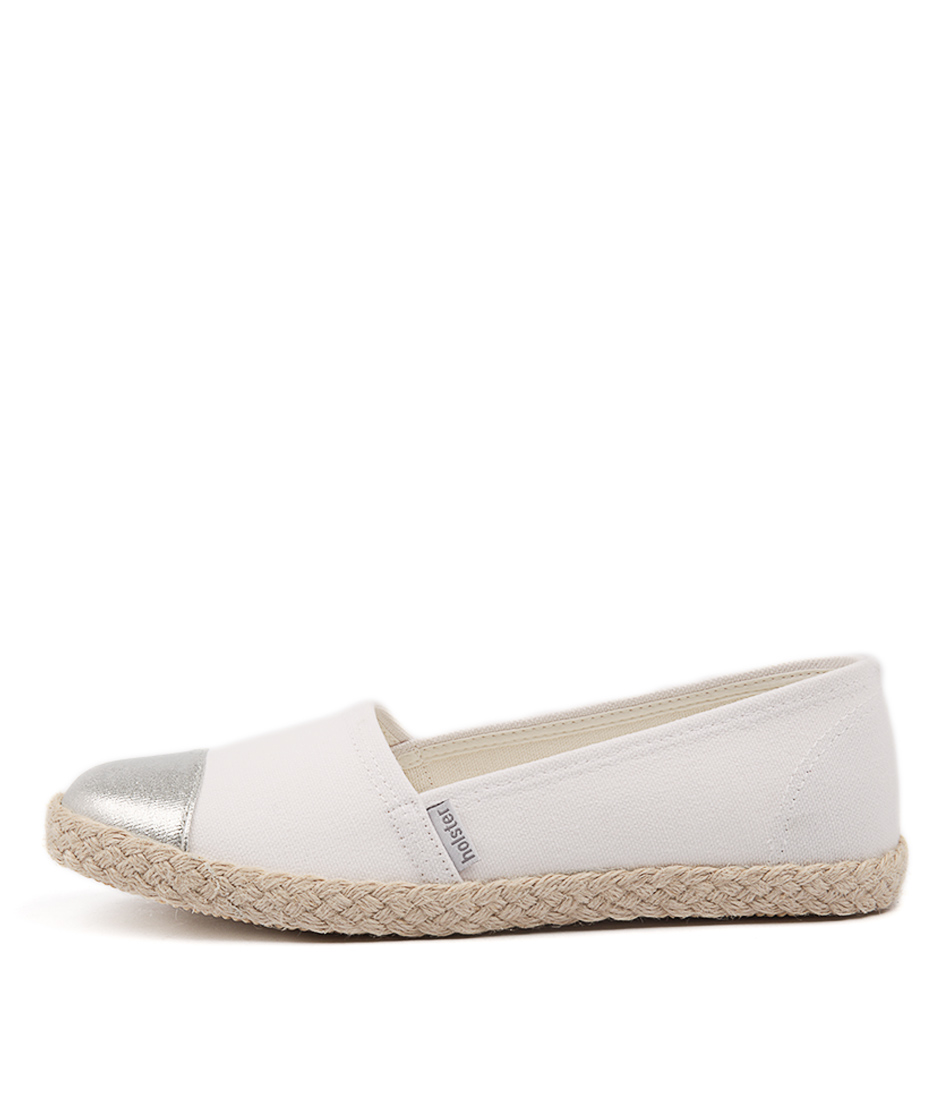 Holster Stellar Ho White Flat Shoes