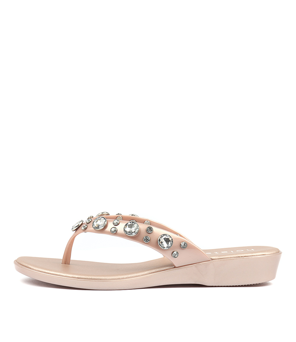 Buy Holster Cocktail Wedge Rose Gold Sandals online with free shipping