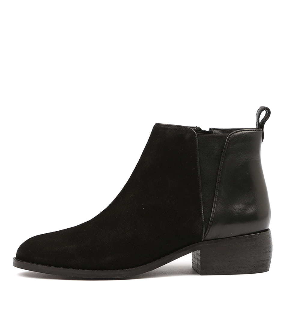 Hush Puppies Deluxe Hp Black Ankle Boots