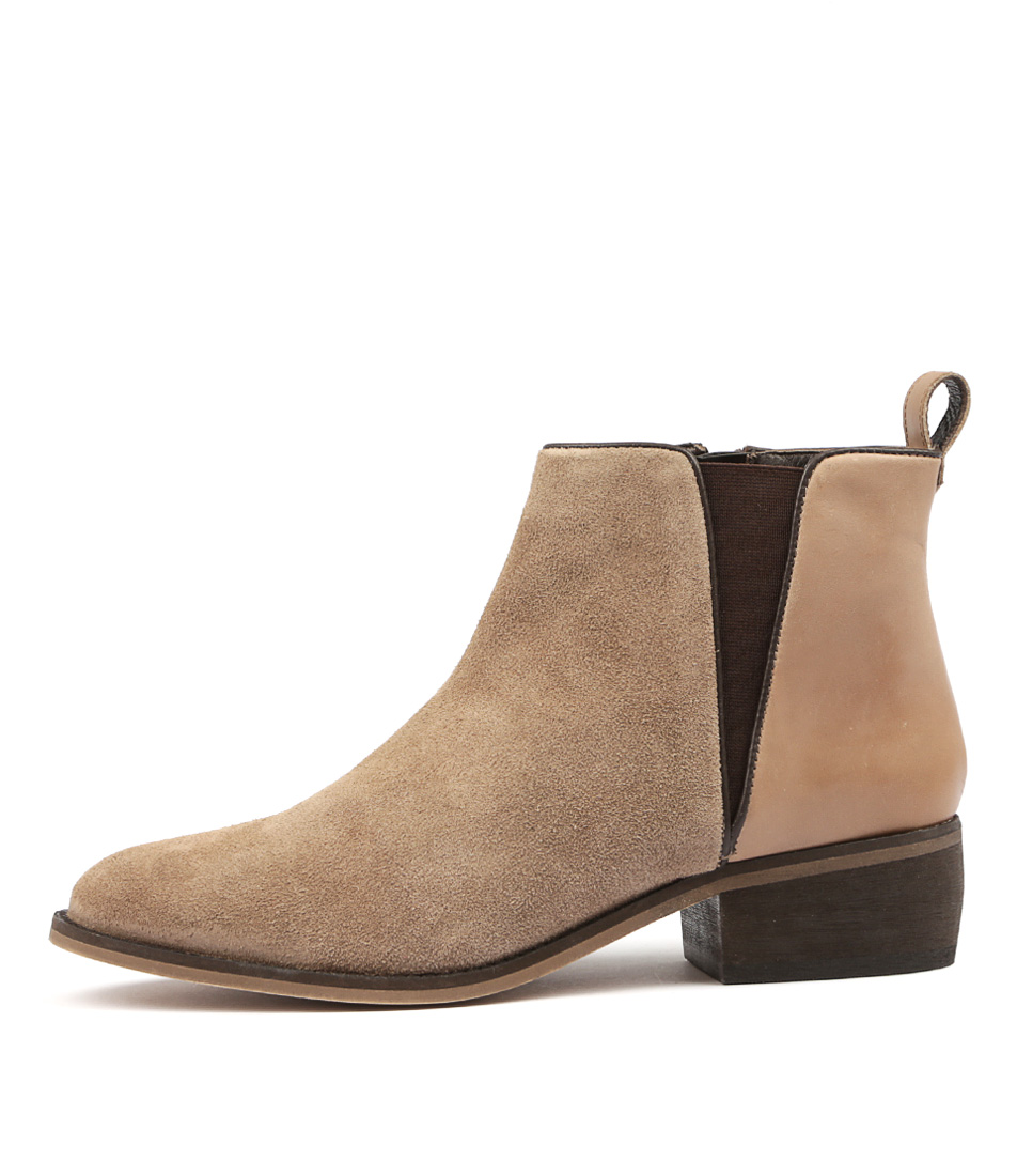 Hush Puppies Deluxe Hp Taupe Ankle Boots