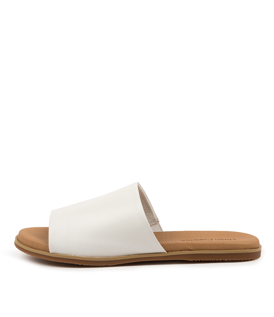 Buy Hush Puppies Paradise Hp White Sandals Flat Sandals online with free shipping