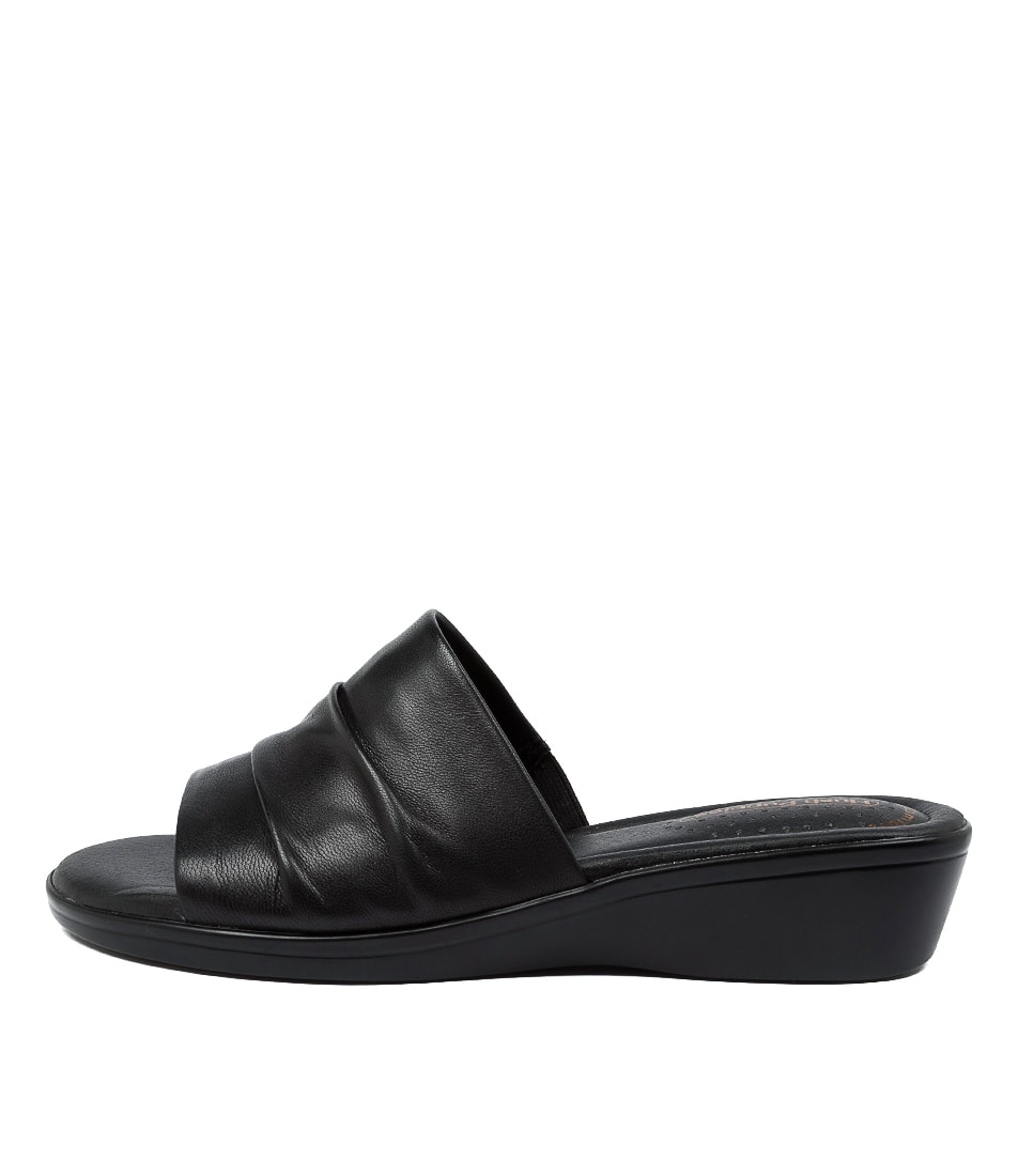 Buy Hush Puppies Carly Hp Black Flat Sandals online with free shipping