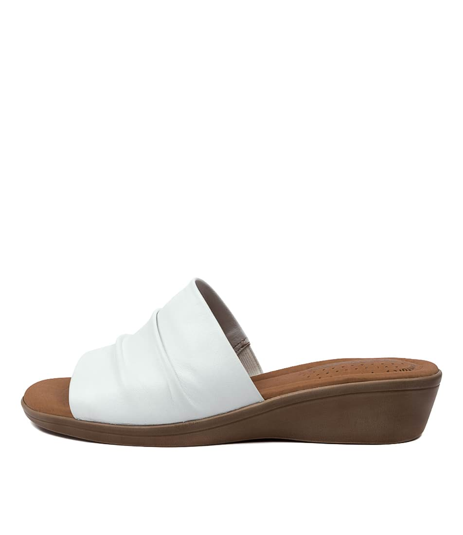 Buy Hush Puppies Carly Hp White Sandals online with free shipping