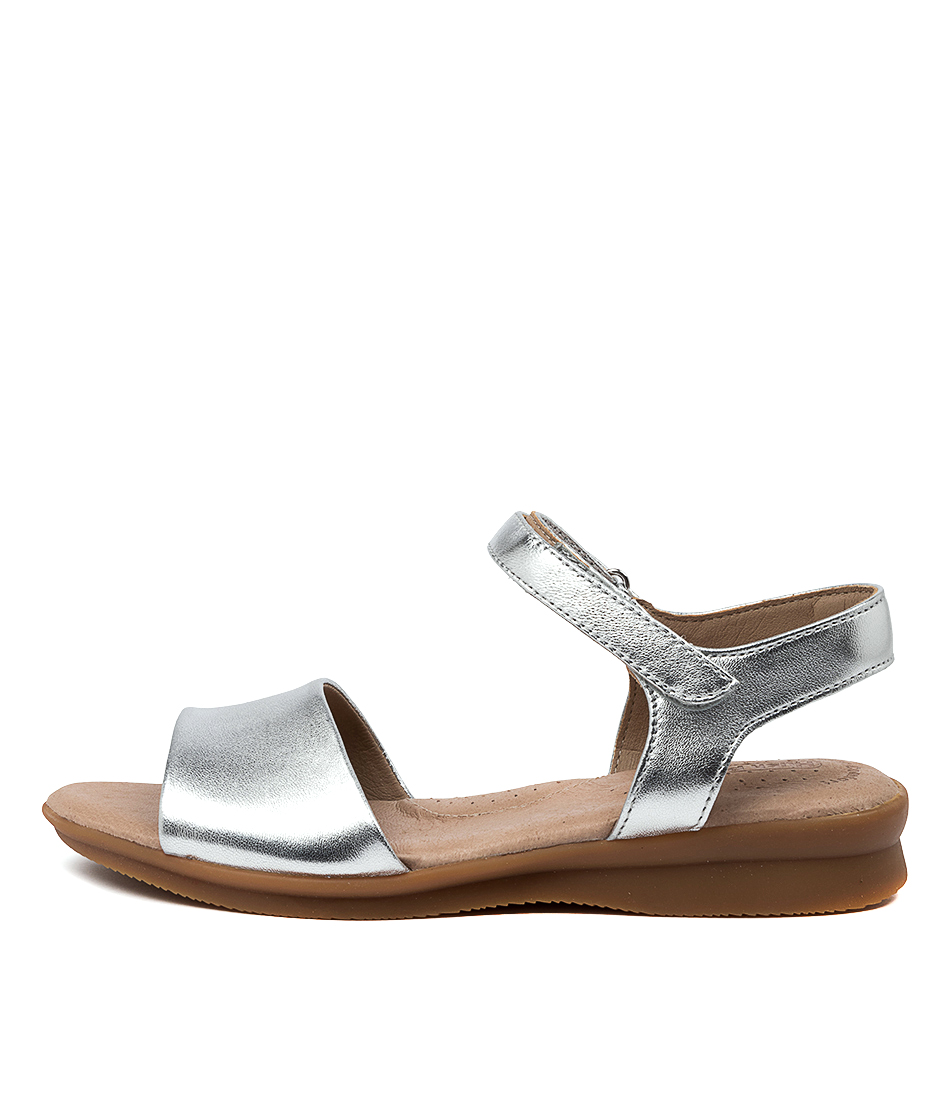 Buy Hush Puppies Nigella Pl Hp Silver Sandals online with free shipping