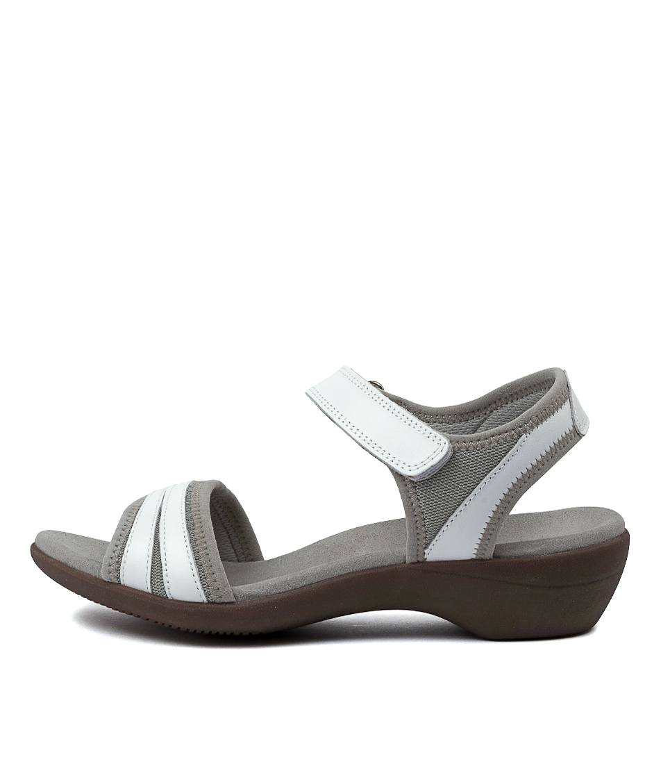 Buy Hush Puppies Amazing Hp White Heeled Sandals online with free shipping