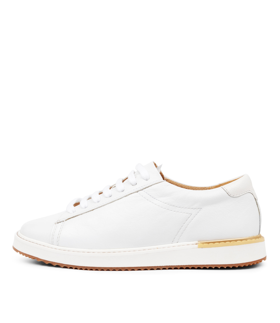 Buy Hush Puppies Sabine Hp White Flats online with free shipping