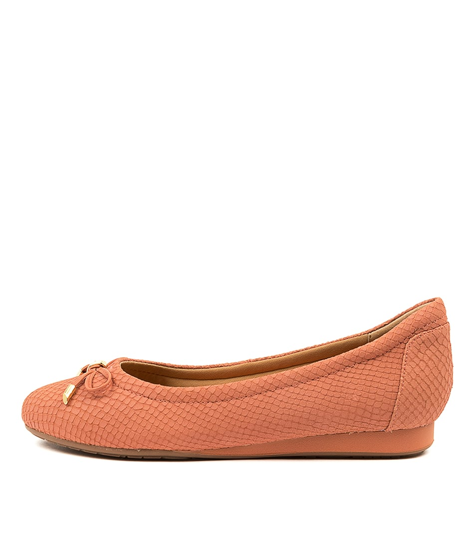 Buy Hush Puppies The Ballet Hp Dusty Clay Flats online with free shipping