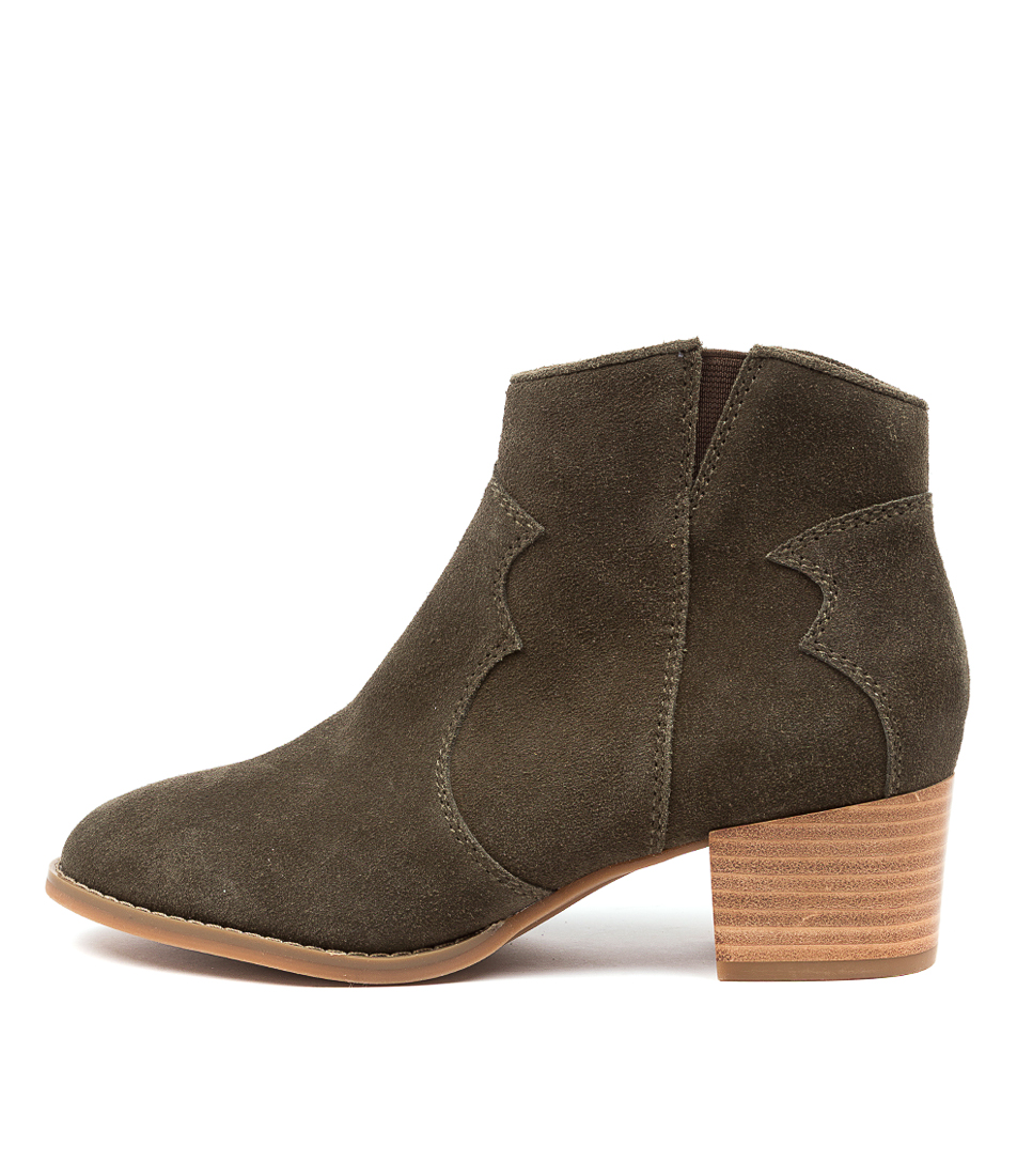 Buy Hush Puppies Chai Hp Olive Ankle Boots online with free shipping