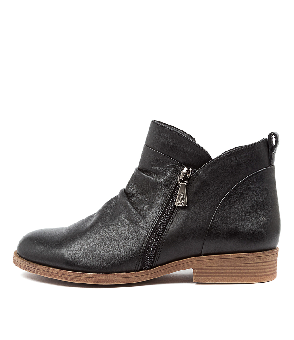 Buy Hush Puppies Chalet Hp Black Ankle Boots online with free shipping