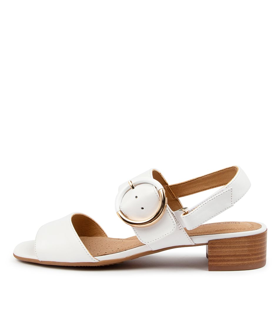 Buy Hush Puppies Mackenzie Hp White Heeled Sandals online with free shipping