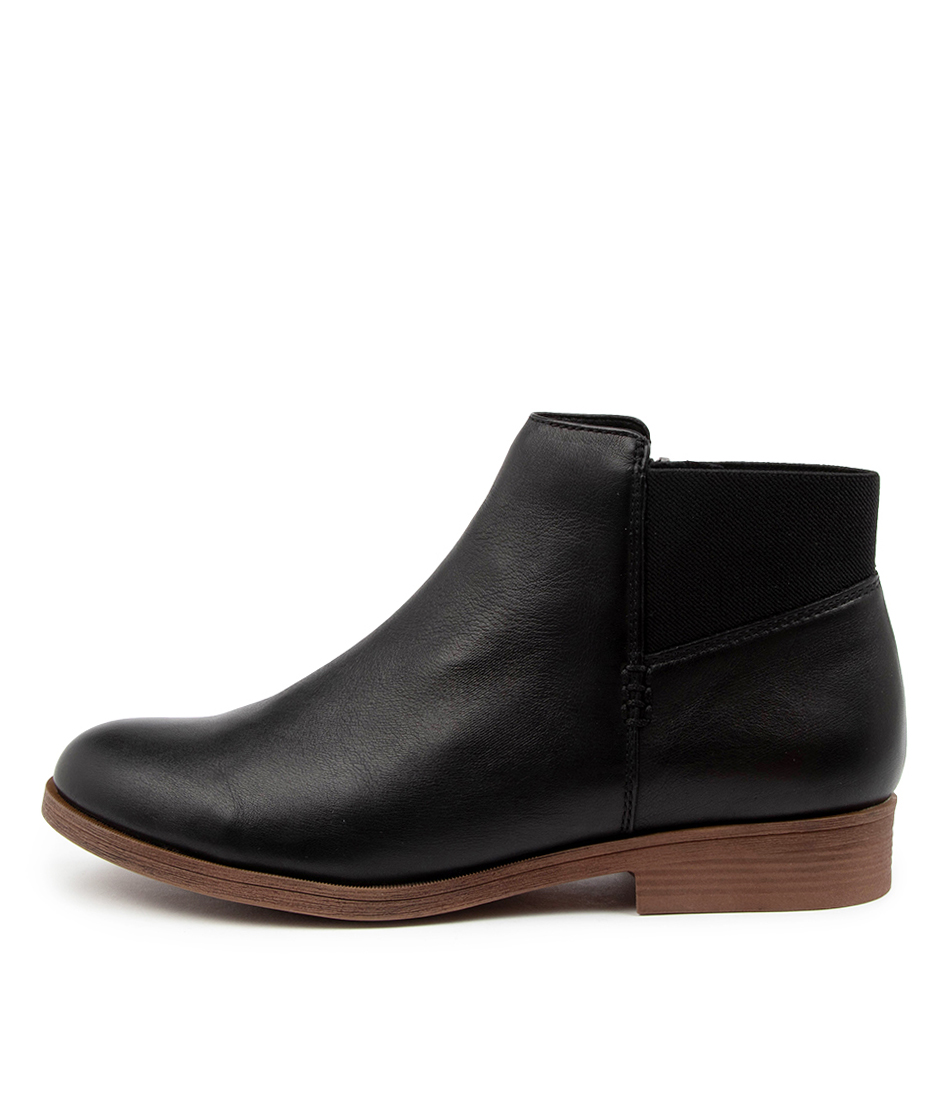 Buy Hush Puppies Candid Hp Black Ankle Boots online with free shipping