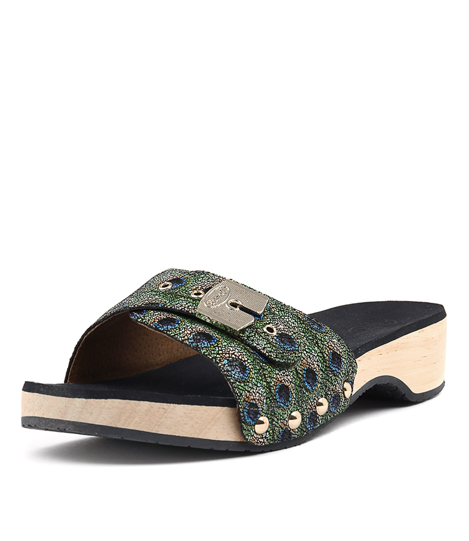 Scholl Paramount Peacock Casual Heeled Sandals
