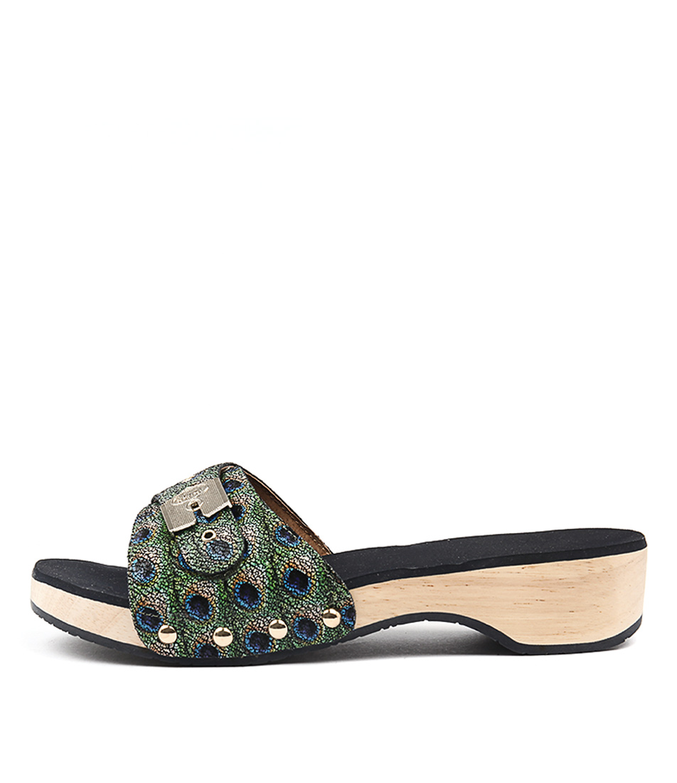 Scholl Paramount Peacock Heeled Sandals