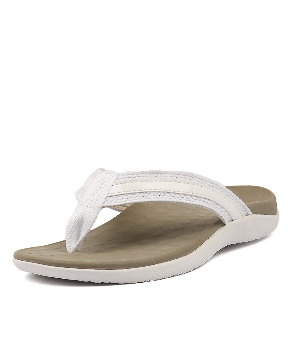 Scholl Tide Us White Casual Flat Sandals