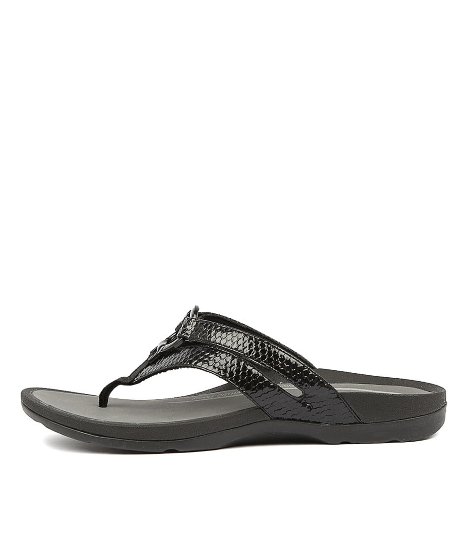 Buy Scholl Tonga Black Snake Flat Sandals online with free shipping