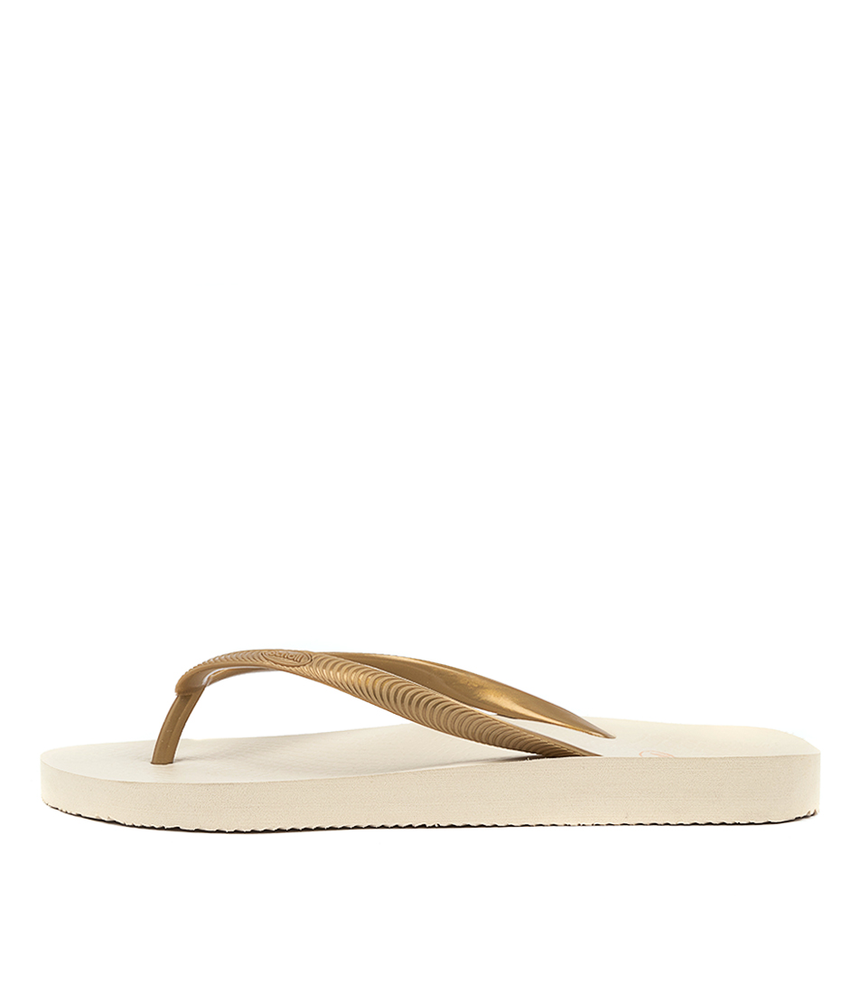 Buy Scholl Fiji Hs Beige Gold Flat Sandals online with free shipping