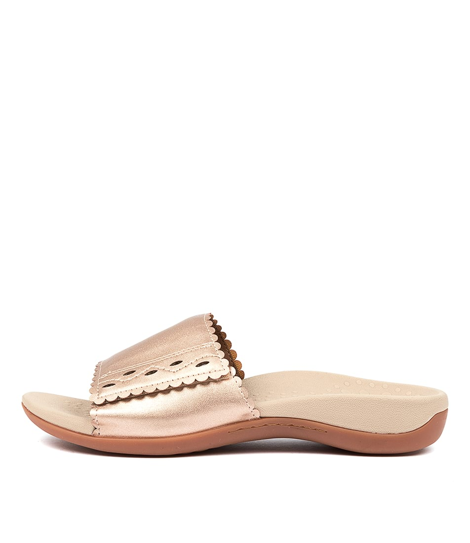 Buy Scholl Astrid Hs Rose Gold Flat Sandals online with free shipping