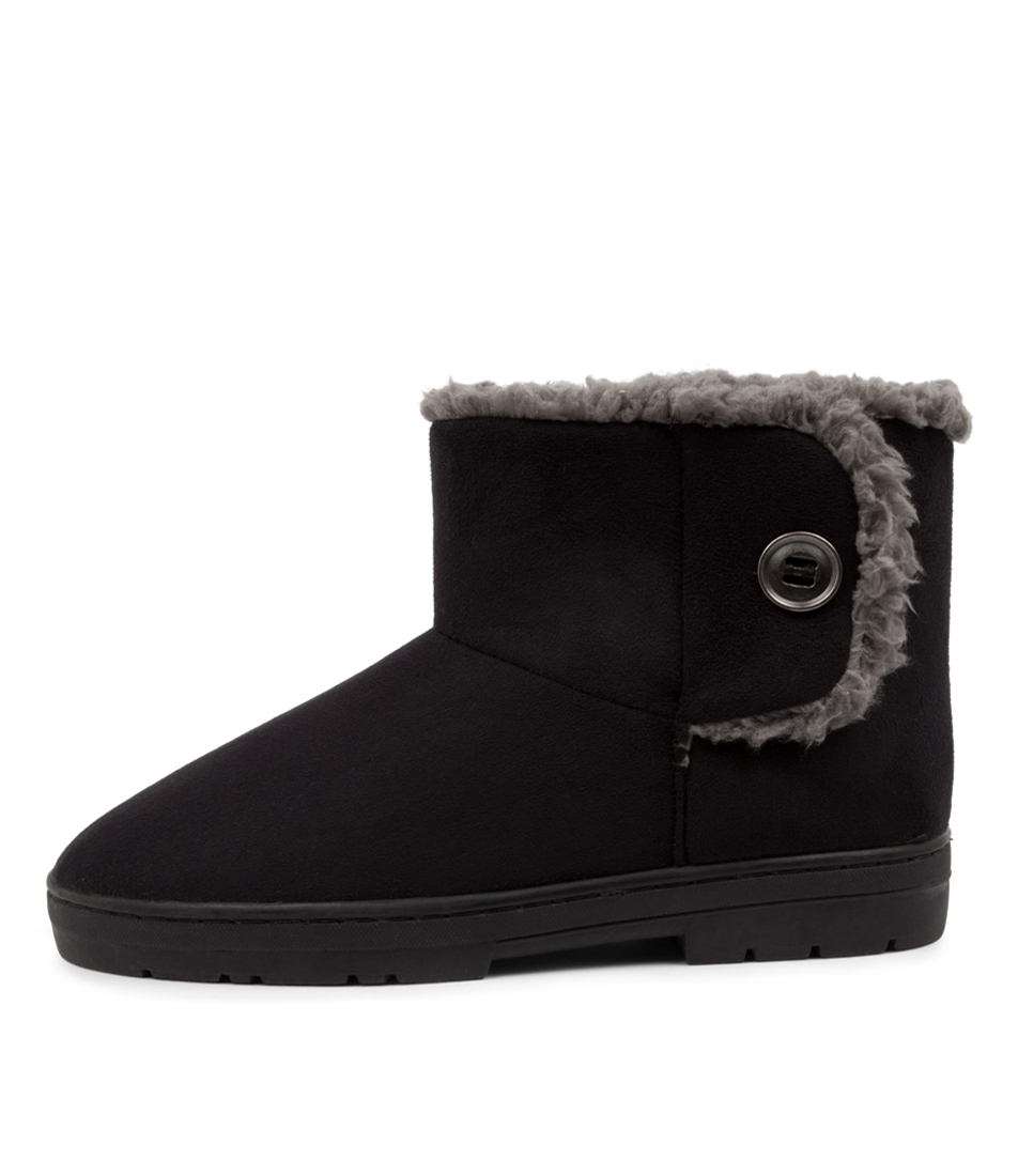 Buy Scholl Fluffy Hs Black Ankle Boots online with free shipping
