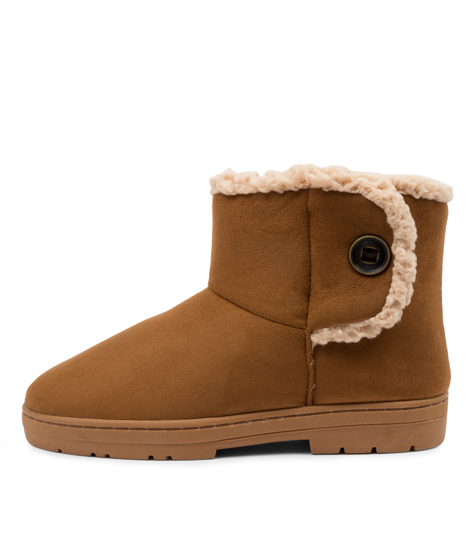 Buy Scholl Fluffy Hs Brown Ankle Boots online with free shipping