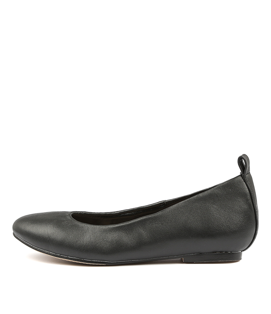Human Premium Lavish Black Flats
