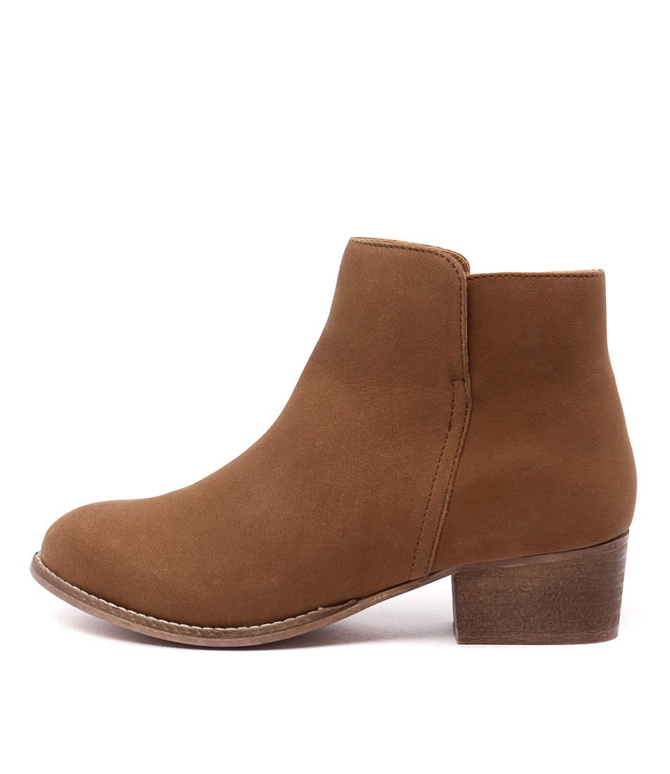 Human Premium Jill Tan Casual Ankle Boots