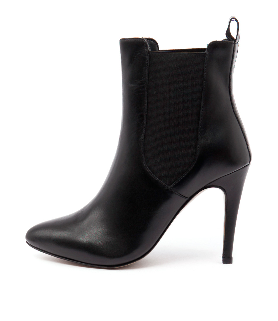 Human Premium Bettina Hu Black Dress Ankle Boots