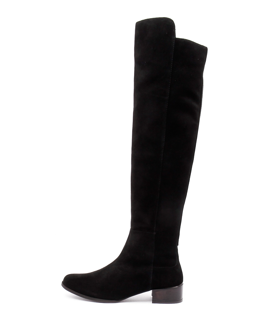 Human Premium Ebony Hu Black Casual Long Boots