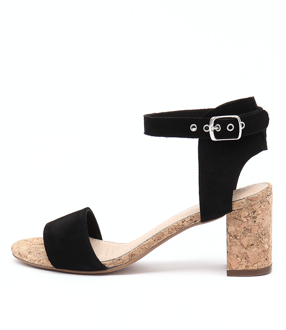 Human Premium Keira Black Heeled Sandals