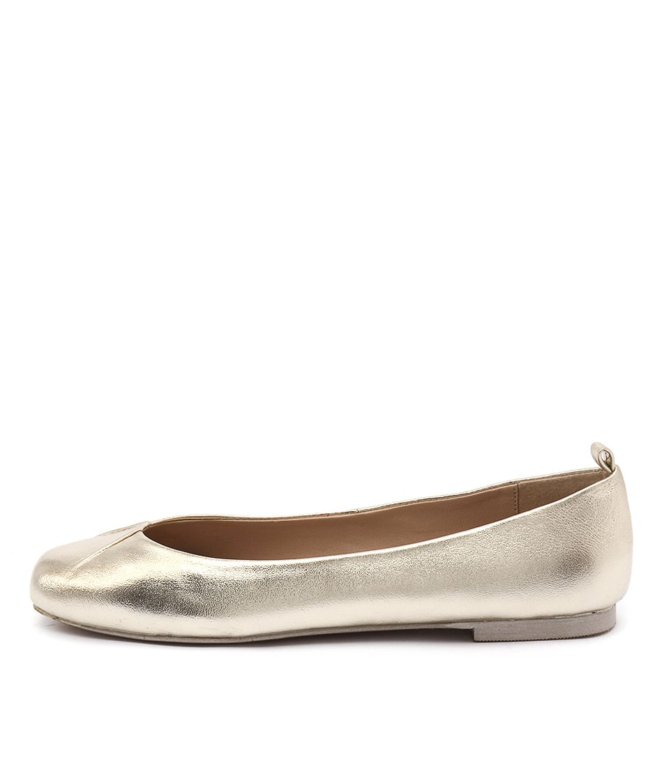 Human Premium Ballerina Gold Casual Flat Shoes