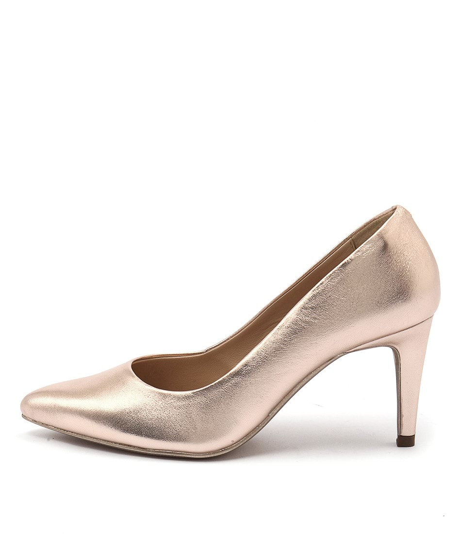Human Premium Savannah Hu Rose Gold Casual Heeled Shoes