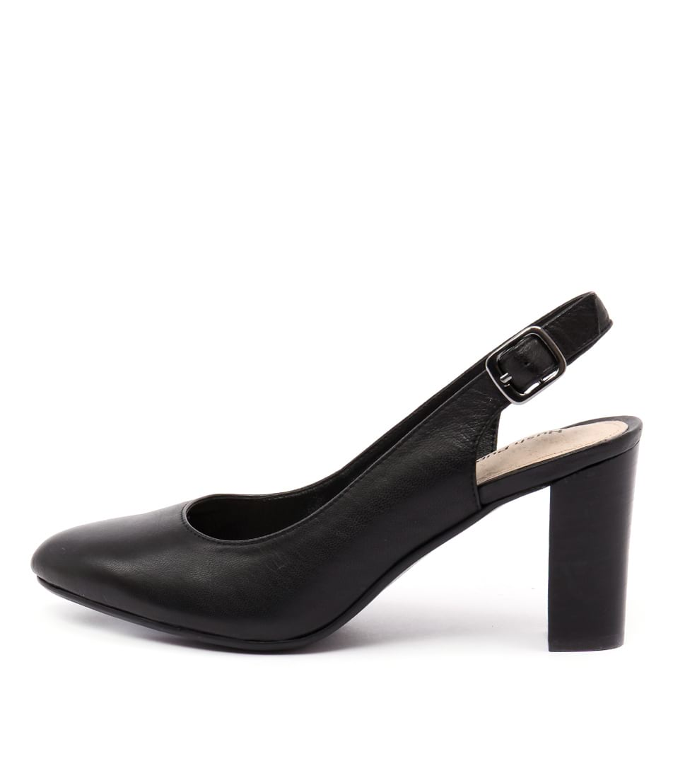 Hush Puppies Harlo Black Dress Heeled Shoes