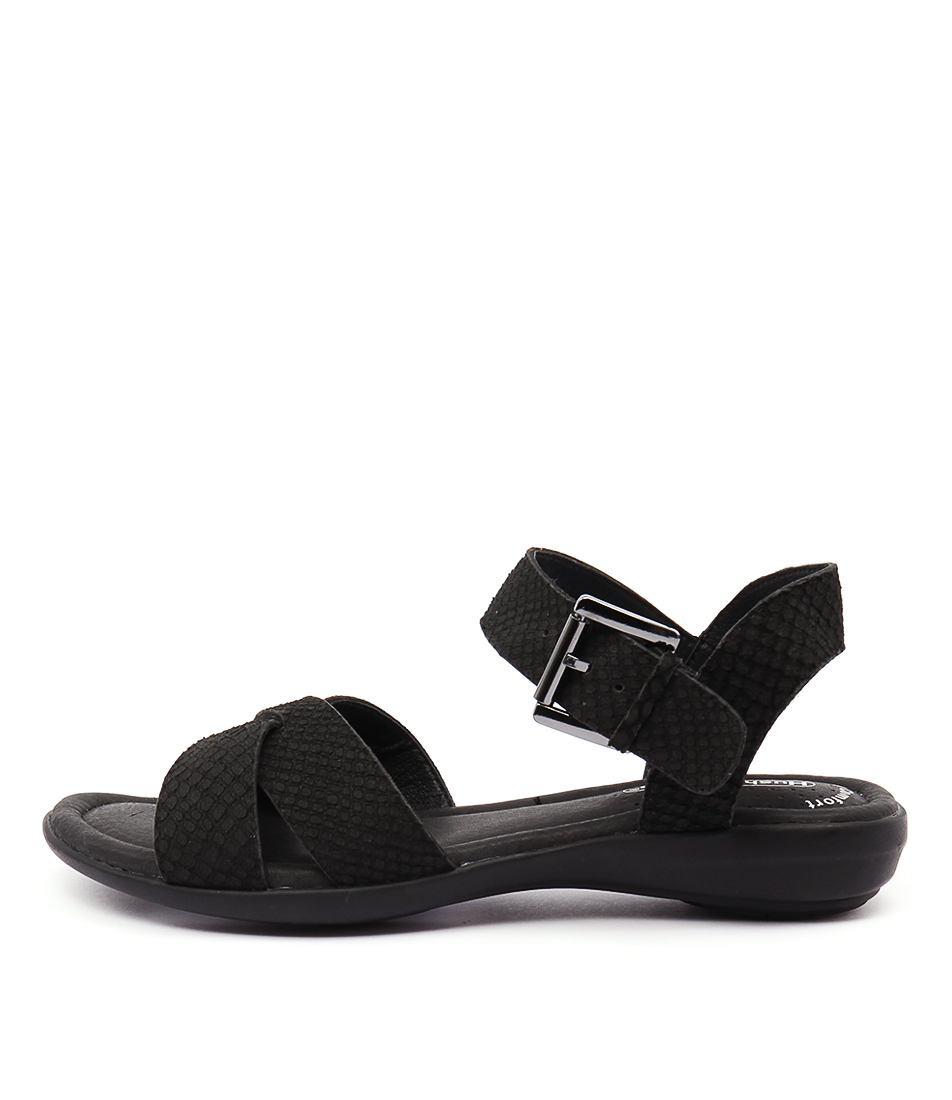 Hush Puppies Colada Black Sandals