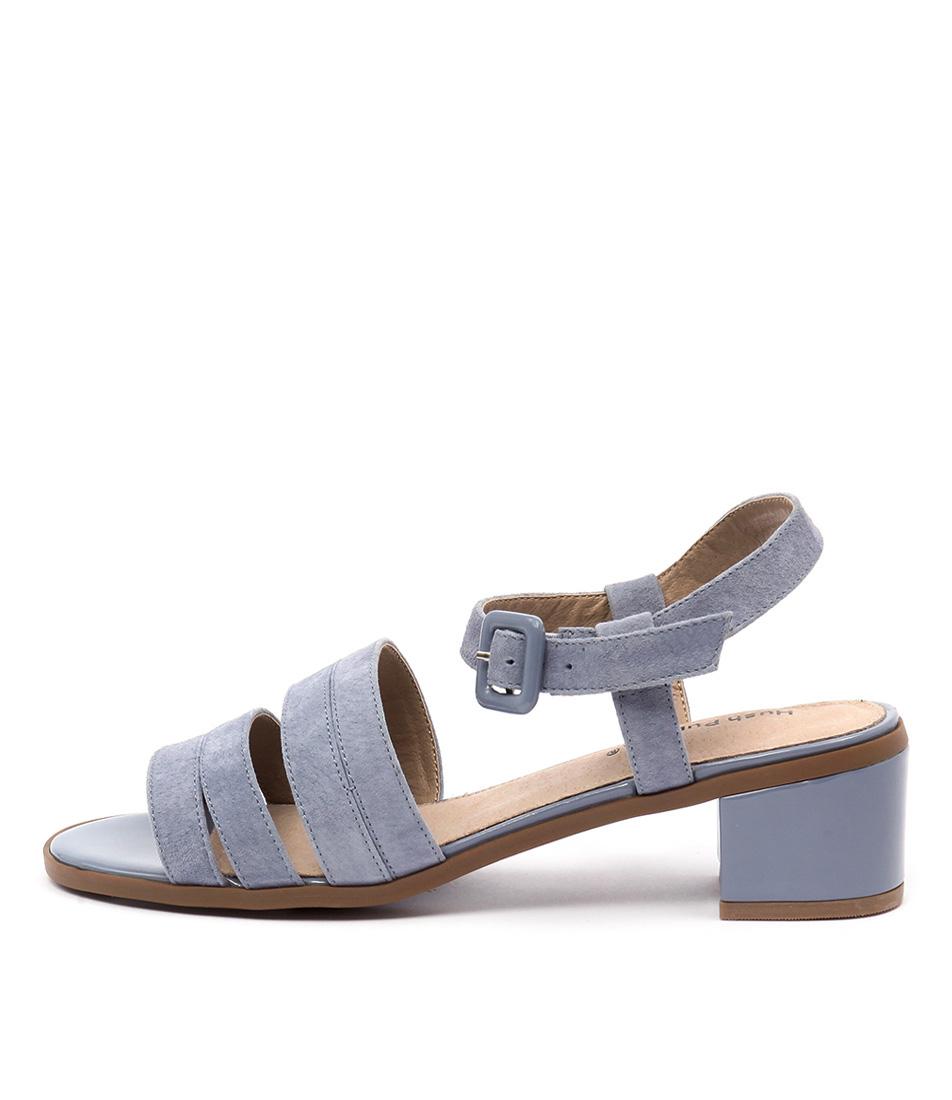 Hush Puppies Katniss Denim Blue Heeled Sandals