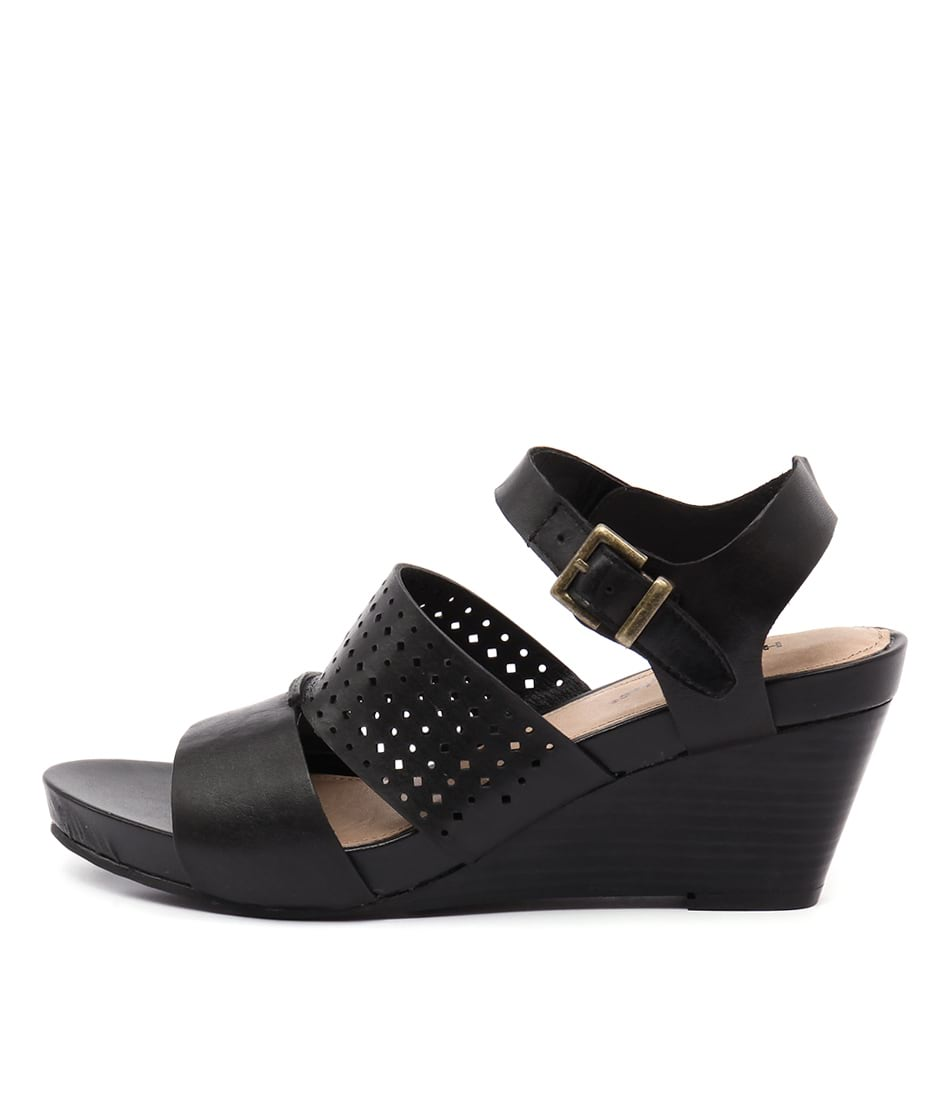Hush Puppies Xenia Black Heeled Sandals