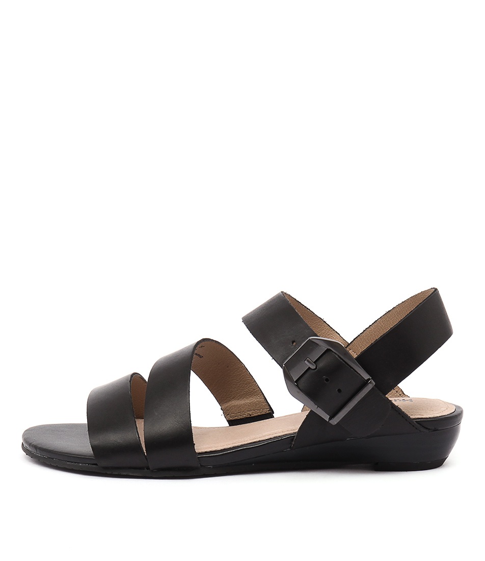 Hush Puppies Fernanda Black Sandals
