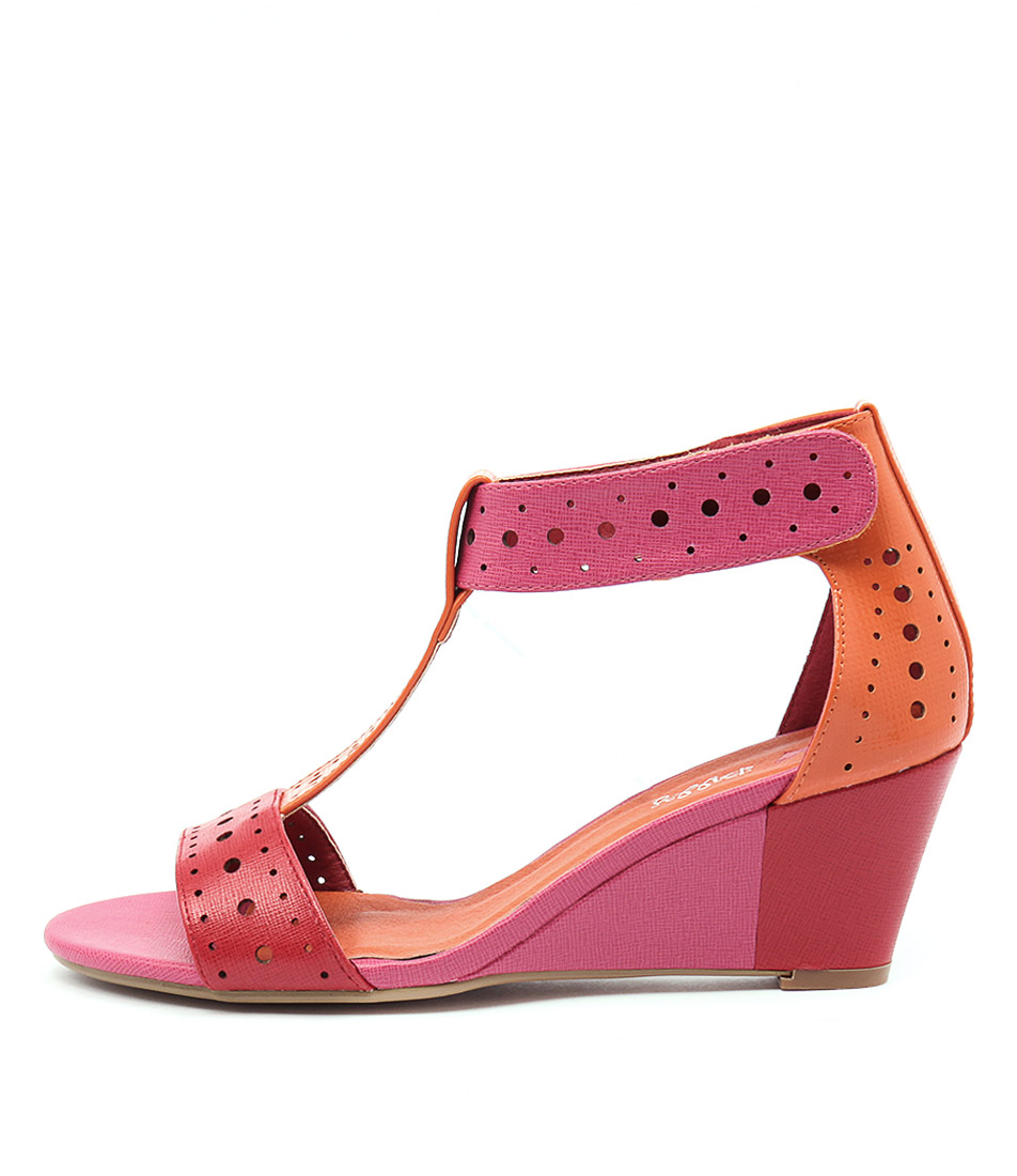 I Love Billy Blanche Pink Bright Mul Heeled Sandals