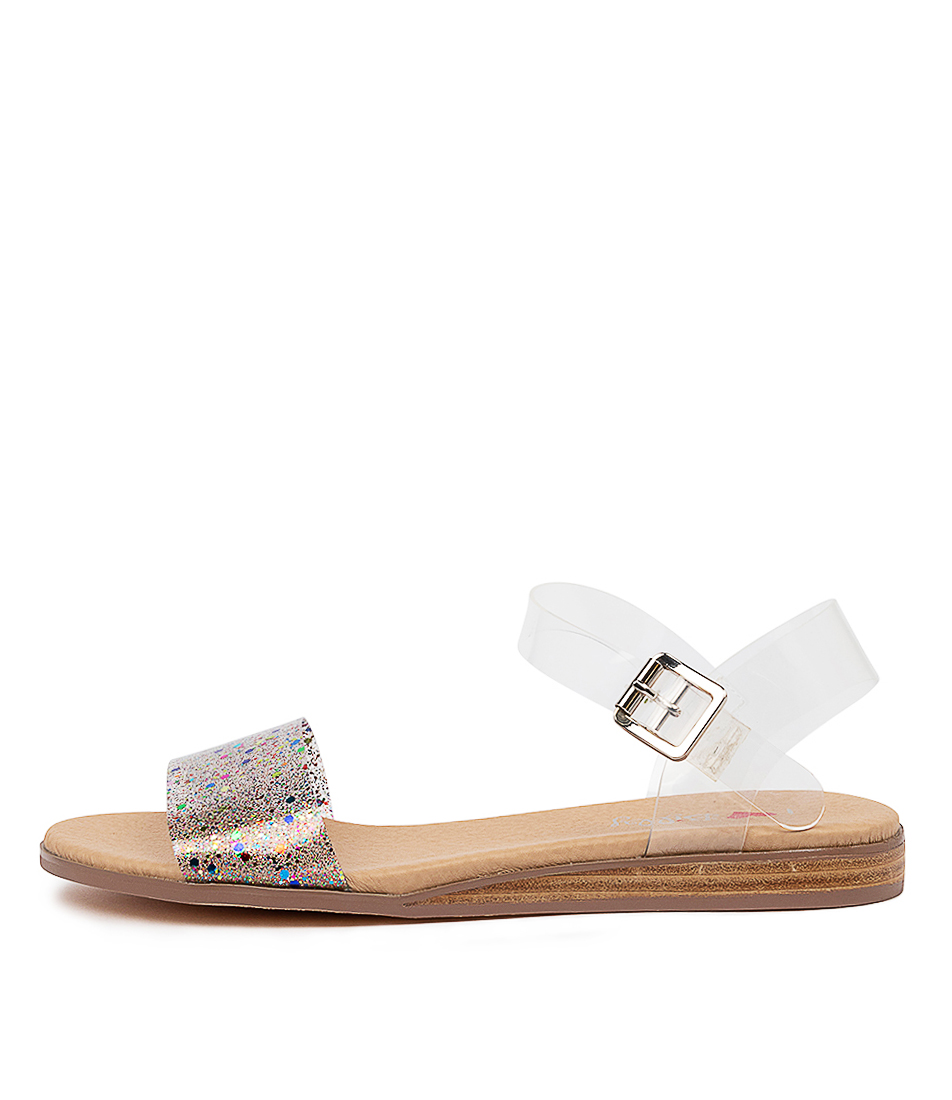 Buy I Love Billy Oneday Clear Multi Clear Flat Sandals online with free shipping