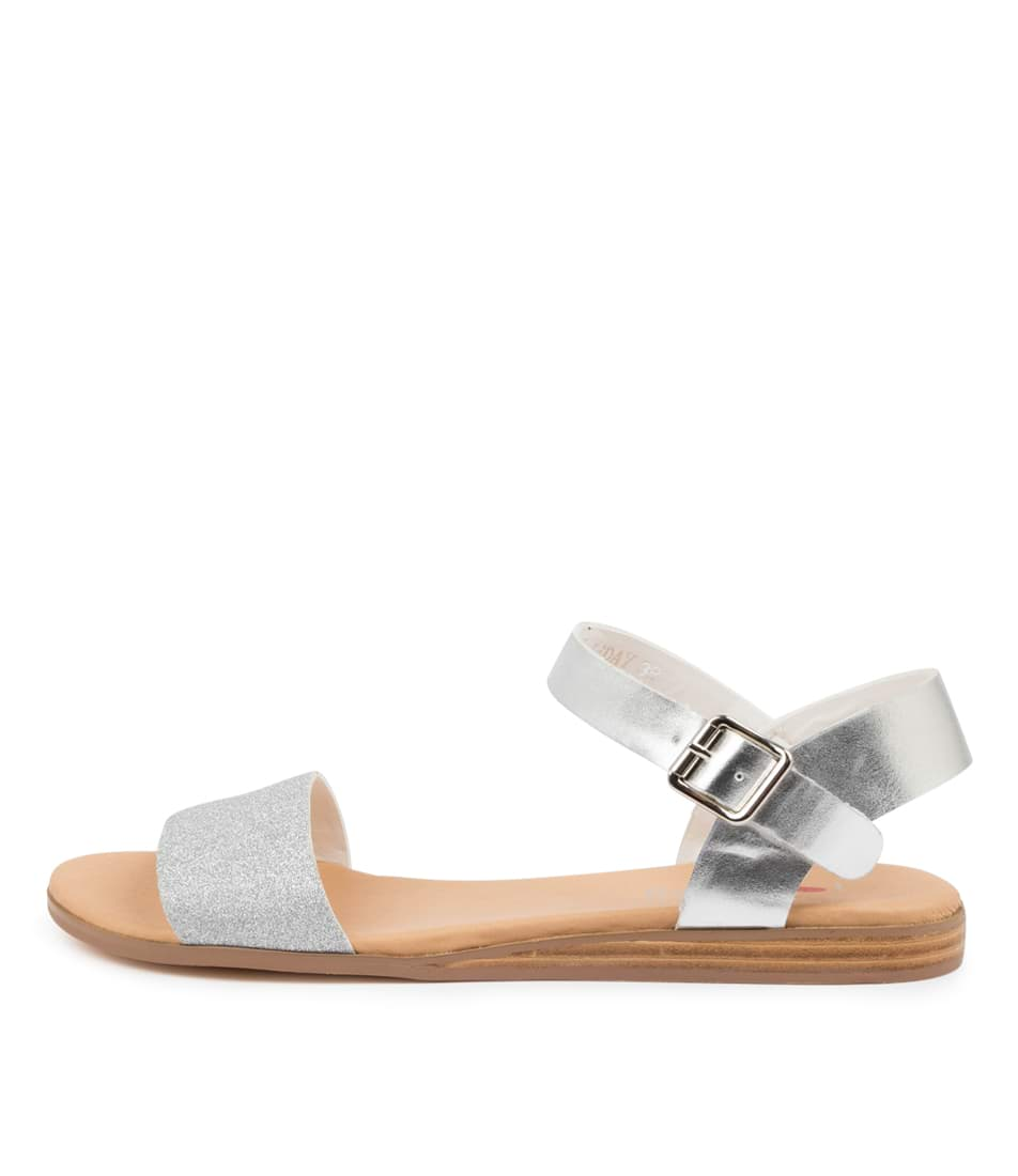 Buy I Love Billy Oneday Silver Flat Sandals online with free shipping