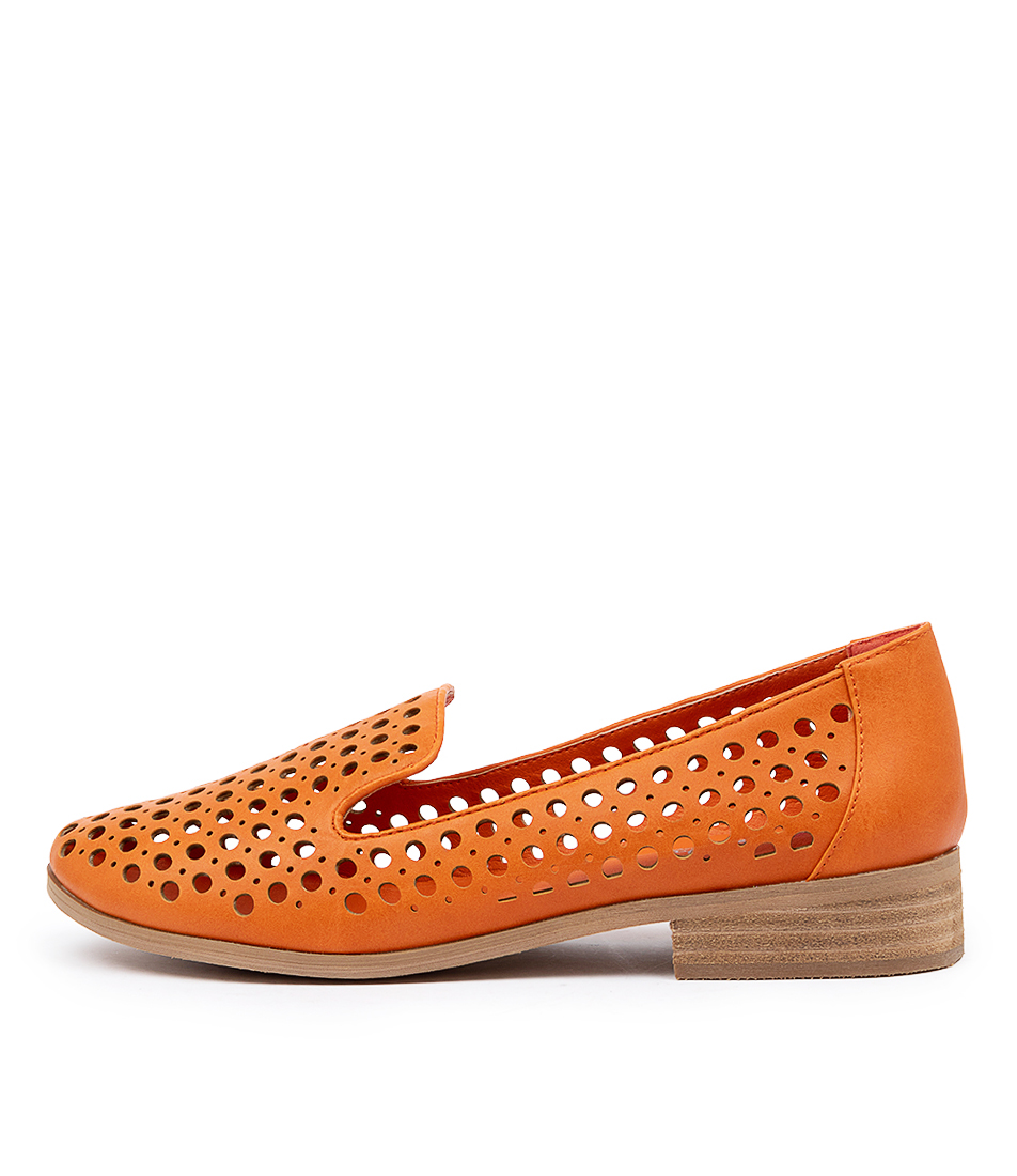Buy I Love Billy Question Orange Flats online with free shipping