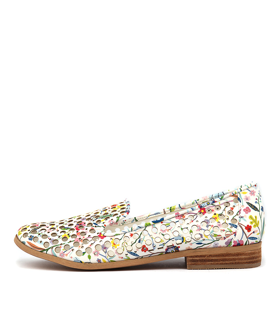 I Love Billy Question White Multi Casual Flat Shoes