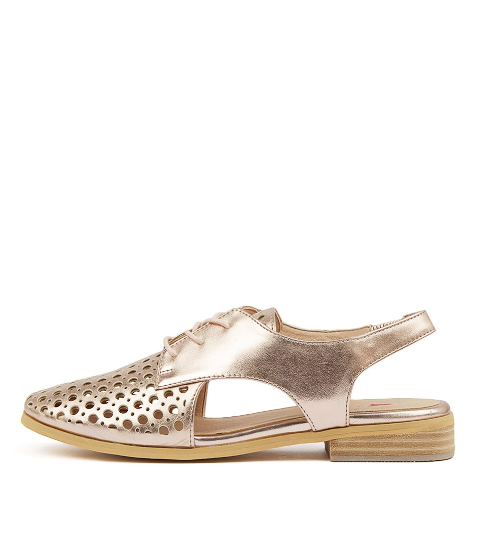 Buy I Love Billy Quibblet Rose Gold Flats online with free shipping