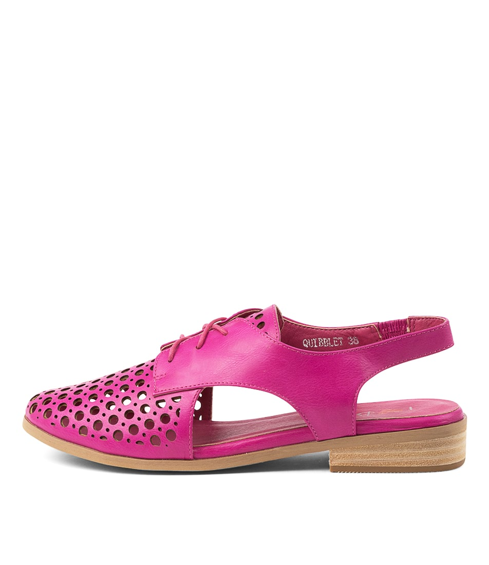 Buy I Love Billy Quibblet Fuchsia Flats online with free shipping