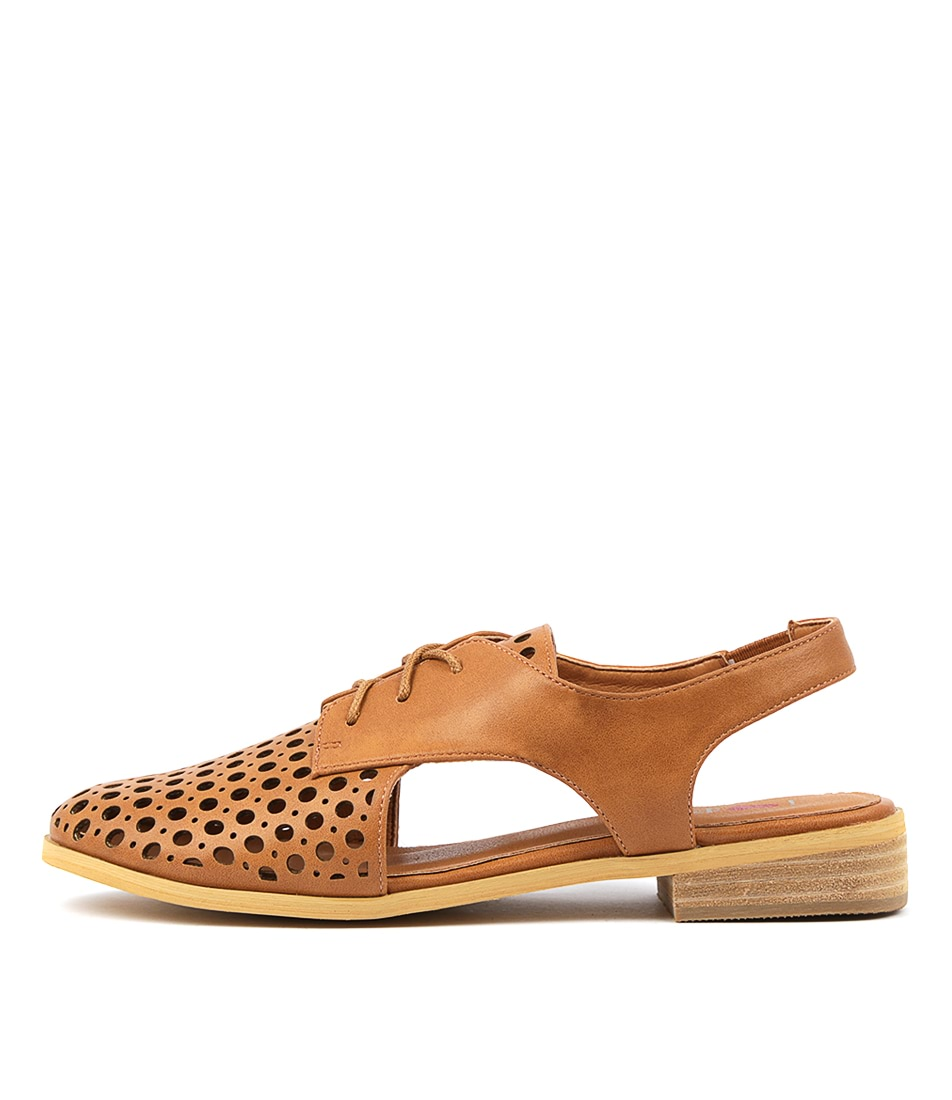 Buy I Love Billy Quibblet Tan Flats online with free shipping