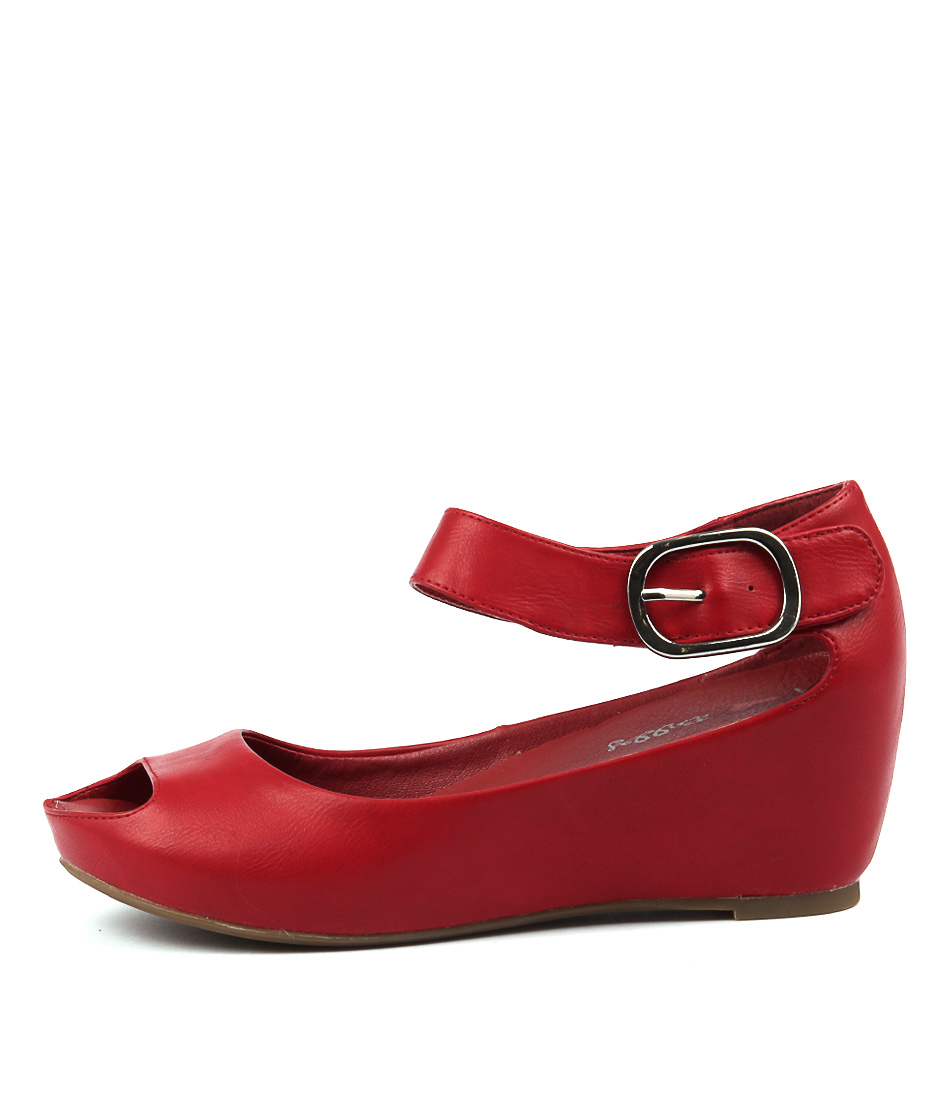 Buy I Love Billy Tindol Red Heeled Sandals online with free shipping