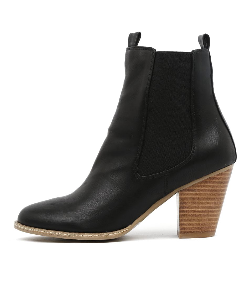 I Love Billy Cappy Black Ankle Boots